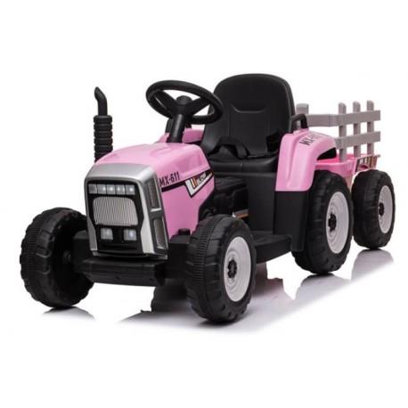 Tractor eléctrico para niños de 12v ROSA